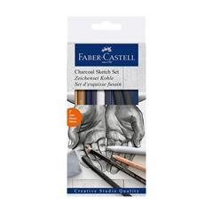 Ogljeni set za skiciranje Faber-Castell Gold, 7 kosov
