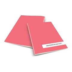 Zvezek A4 Rucksack Only, Left, svetlo roza, visoki karo, 52 listov