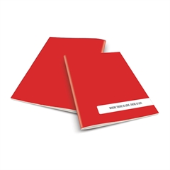 Zvezek A4 Rucksack Only, Life, rdeč, visoki karo, 52 listov