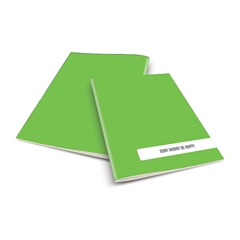 Zvezek A4 Rucksack Only, Happy, zelen, visoki karo, 52 listov