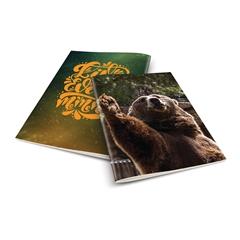 Zvezek A4 Rucksack Only, Medved, brezčrtni, 52 listov