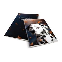 Zvezek A4 Rucksack Only, Kuža, brezčrtni, 52 listov