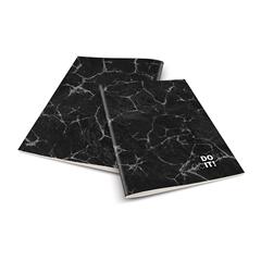 Zvezek A4 Rucksack Only, Don´t quit, črno siv, brezčrtni, 52 listov