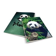 Zvezek A4 Rucksack Only, Panda 1, brezčrtni, 52 listov