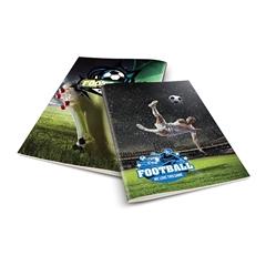 Zvezek A4 Rucksack Only, Football 1, brezčrtni, 52 listov