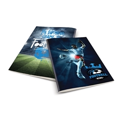 Zvezek A4 Rucksack Only, Football 2, brezčrtni, 52 listov