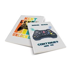 Zvezek A4 Rucksack Only, Game Over, brezčrtni, 52 listov