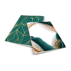Zvezek A4 Skulvajb, zelen, brezčrtni, 52 listov