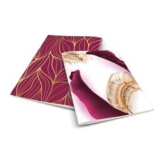 Zvezek A4 Skulvajb, vijoličen, brezčrtni, 52 listov