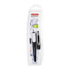 Nalivno pero Herlitz My pen, za levičarje, Black-White