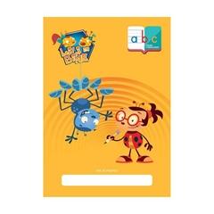 Zvezek Lili in Bine ABC z malimi tiskanimi črkami A4, črte, latajn