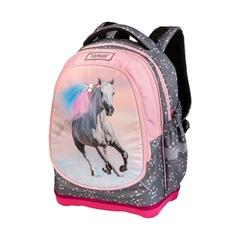 Ergonomski šolski nahrbtnik Target Superlight 2 Face Petit Feather Stallion