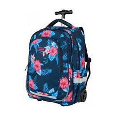 Šolski nahrbtnik na kolesih Target Floral Blue
