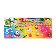 Barvice Jolly Kinderfest Monster, 48 kosov