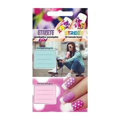Nalepke za zvezke Teen Girls, sortirano, 10 kosov