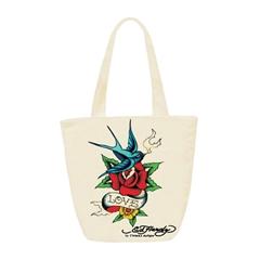 Enoramna torba Ed Hardy Ness bird flower, bež
