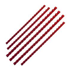 Plastične špirale Fellowes, 12 mm, rdeče, 25 kosov