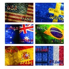 Komplet zvezkov A4, brezčrtni, 52 l, zastave, 5 kosov