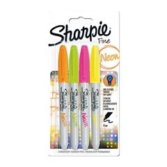 Marker Sharpie Neon, 4 kosi