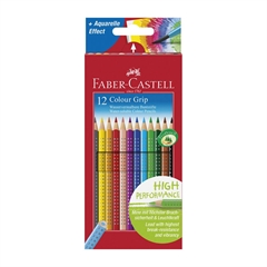 Barvice Faber-Castell Grip, 12 kosov