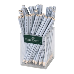 Grafitni svinčnik Faber-Castell Grip Jumbo, 72 kosov, siv