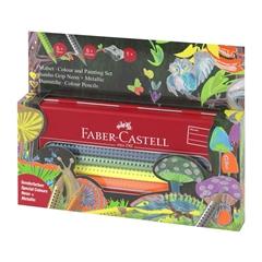 Barvice Faber-Castell Grip Jumbo Metalic, 10 kosov