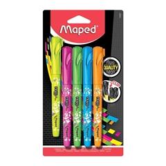 Marker Maped Fluo Pen, 5 kosov
