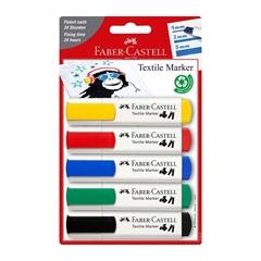 Marker Faber-Castell Tekstil, 5 kosov