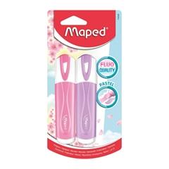 Marker Maped Fluo Pastel Blister, 2 kosa