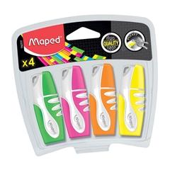 Marker Maped Fluo Pocket, 4 kosi