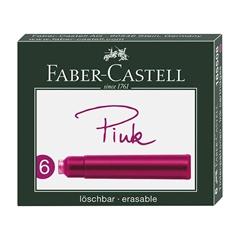 Črnilni vložek Faber-Castell, roza, 6 kosov