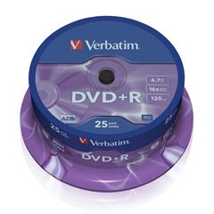 DVD+R medij Verbatim 4,7 GB, 16x, 25 kosov