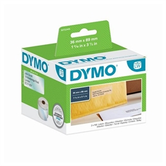 Nalepke Dymo 99013, 89 x 36 mm, original, prozorne