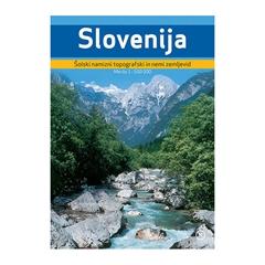 SLOVENIJA, TOPOGRAFSKI IN NEMI ZEMLJEVID, plastificiran zemljevid s priloženim flomastrom in gobico