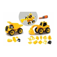 Set igrač Jamara Construction Vehicles, 9 v 2